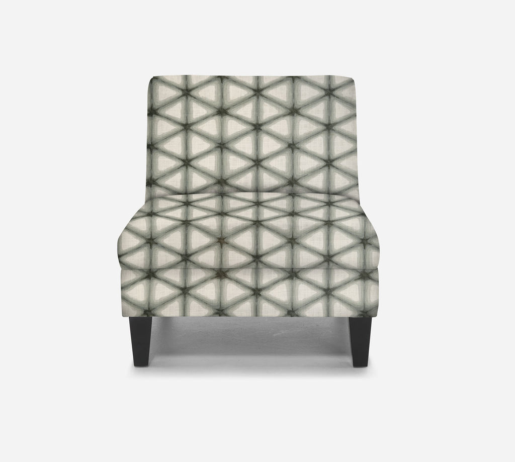 Kennedy Armless Accent Chair - Shibori - LODEN FROST