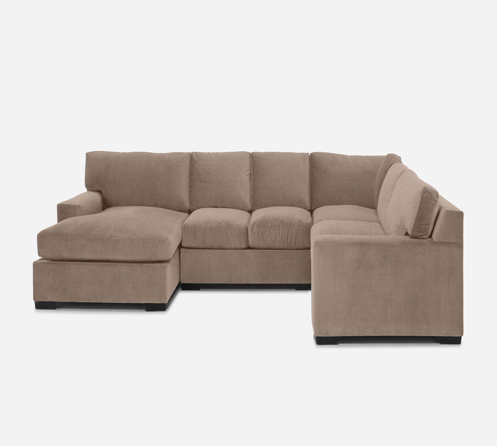 Kyle LAF Chaise Corner Sectional - Coastal - Cashew