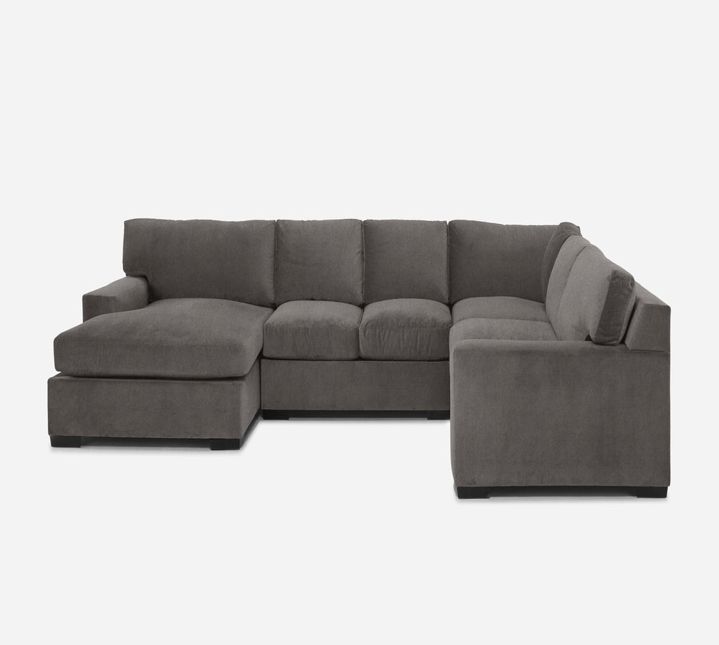 Kyle LAF Chaise Corner Sectional - Dawson - Platinum