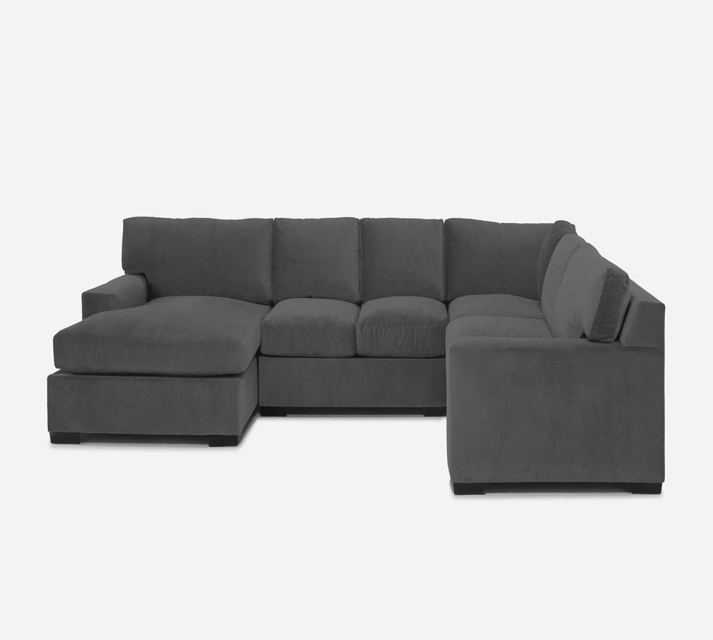Kyle LAF Chaise Corner Sectional - Kenley - Silversage