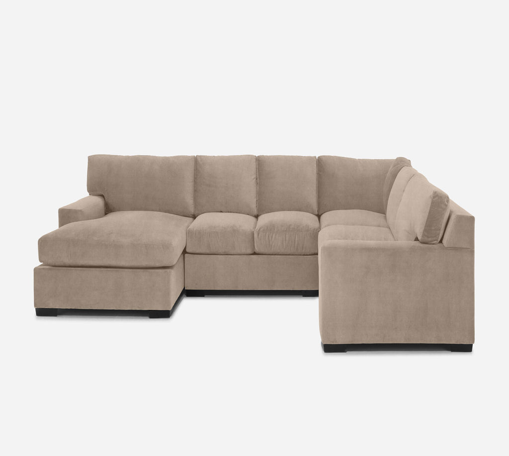 Kyle LAF Chaise Corner Sectional - Passion Suede - Camel
