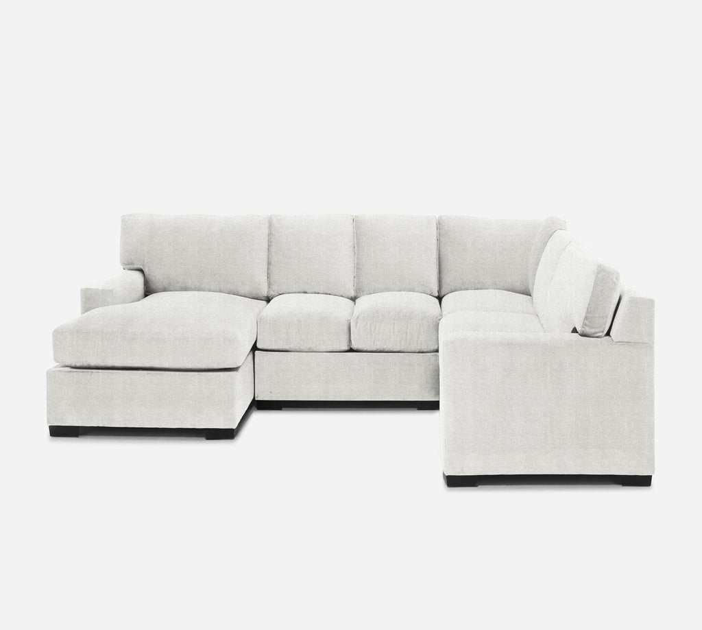 Kyle LAF Chaise Corner Sectional - Stardust - Ivory