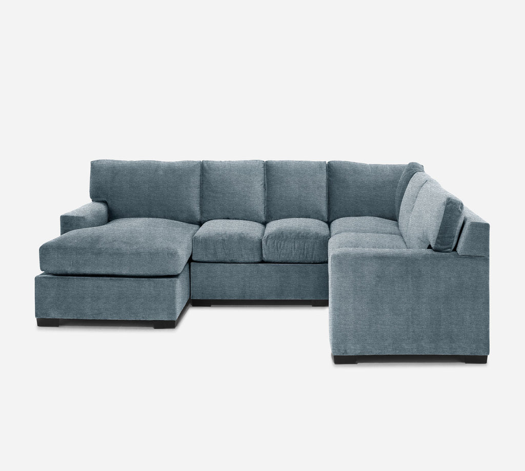 Kyle LAF Chaise Corner Sectional - Stardust - Lapis