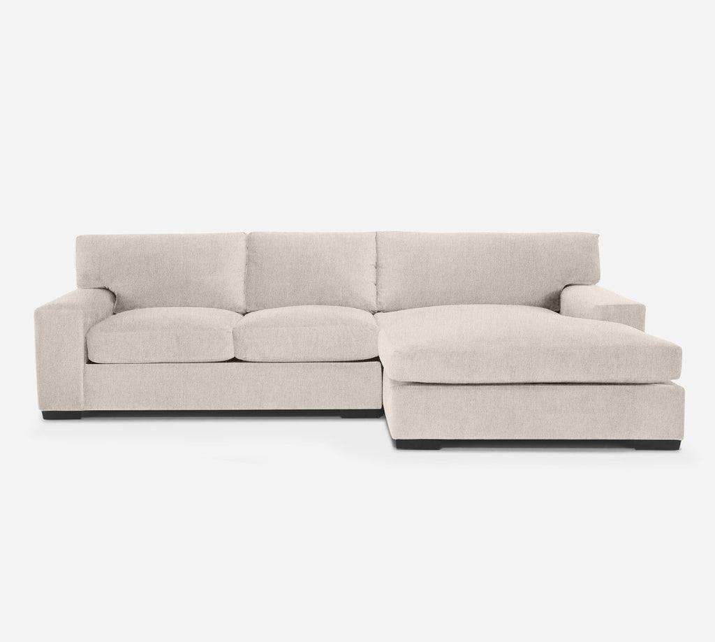 Kyle LAF Sectional Apt Sofa w/ Chaise - Kenley - Canvas