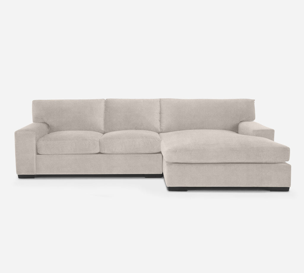 Kyle LAF Sectional Apt Sofa w/ Chaise - Passion Suede - Oyster