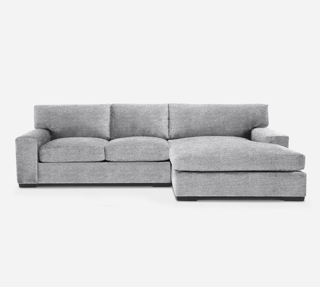 Kyle LAF Sectional Apt Sofa w/ Chaise - Stardust - Domino