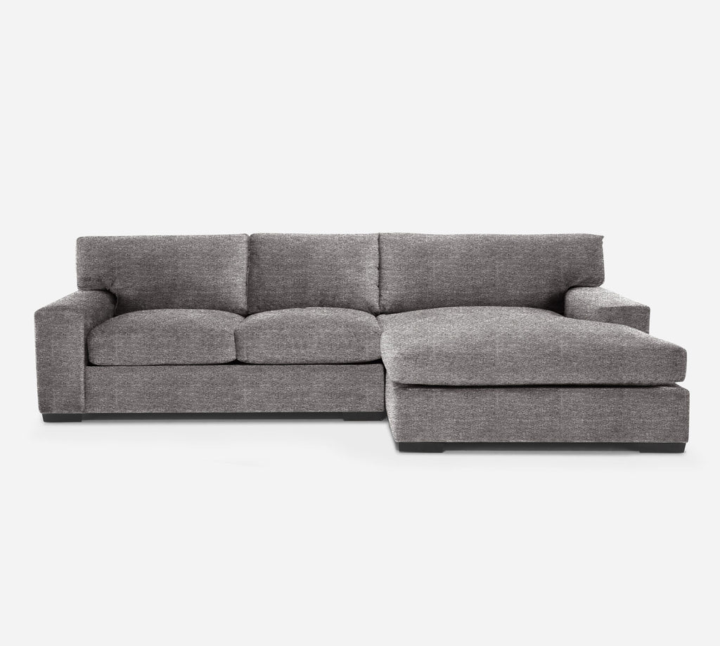 Kyle LAF Sectional Apt Sofa w/ Chaise - Stardust - Fossil