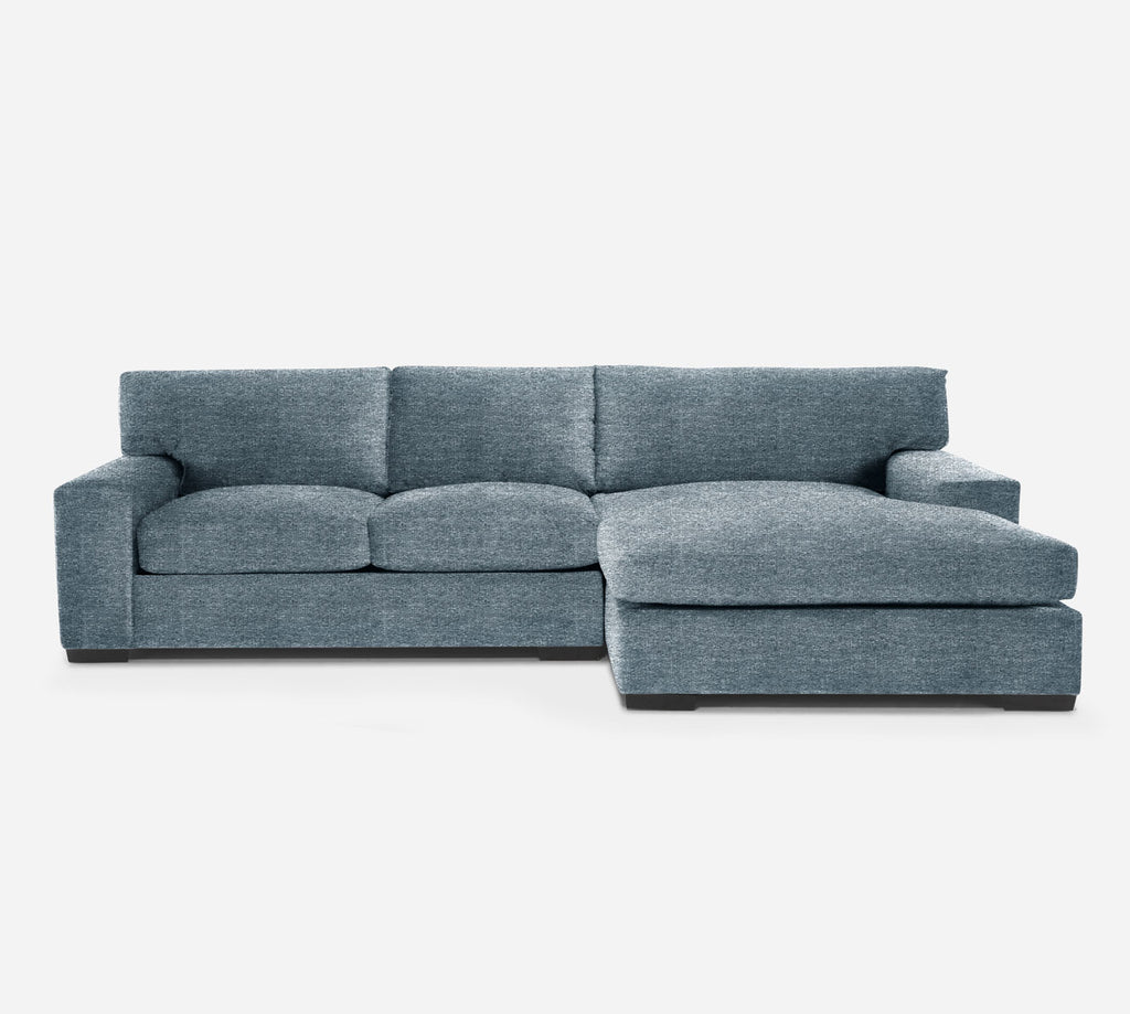 Kyle LAF Sectional Apt Sofa w/ Chaise - Stardust - Lapis