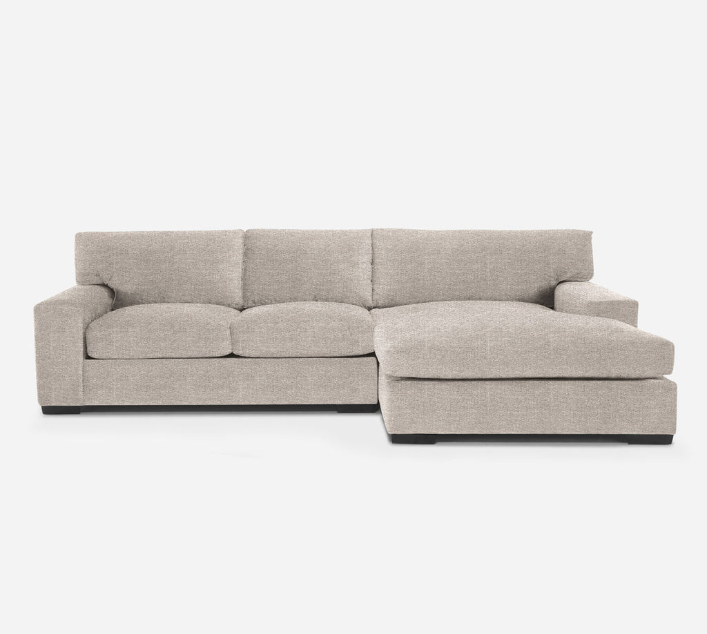 Kyle LAF Sectional Apt Sofa w/ Chaise - Stardust - Oatmeal