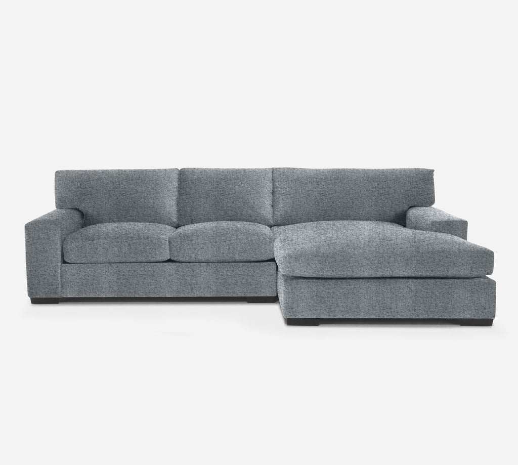 Kyle LAF Sectional Apt Sofa w/ Chaise - Theron - Haze