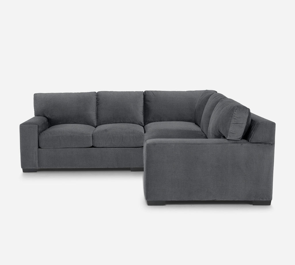 Kyle Corner Sectional - Coastal - Steel