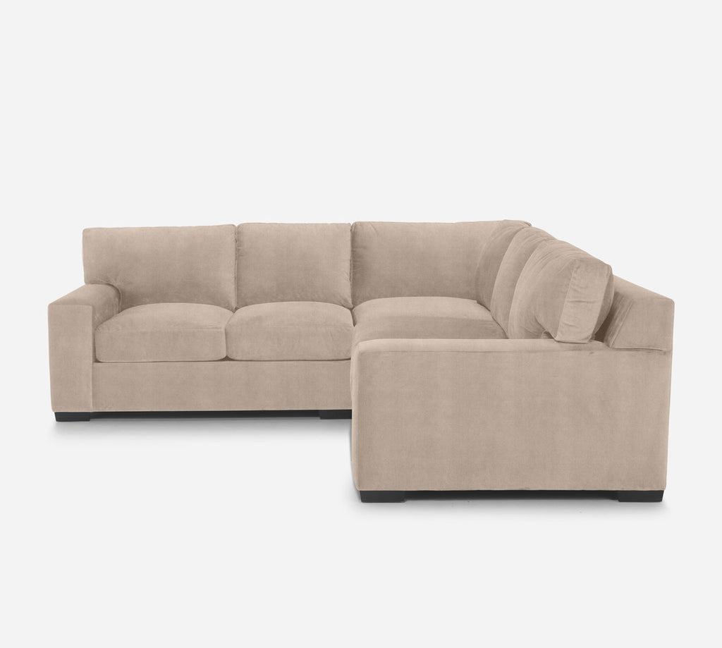 Kyle Corner Sectional - Passion Suede - Camel
