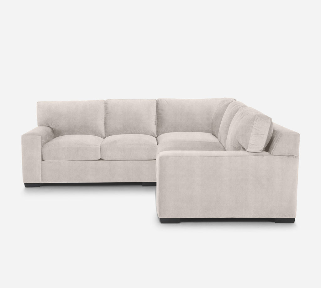 Kyle Corner Sectional - Passion Suede - Oyster
