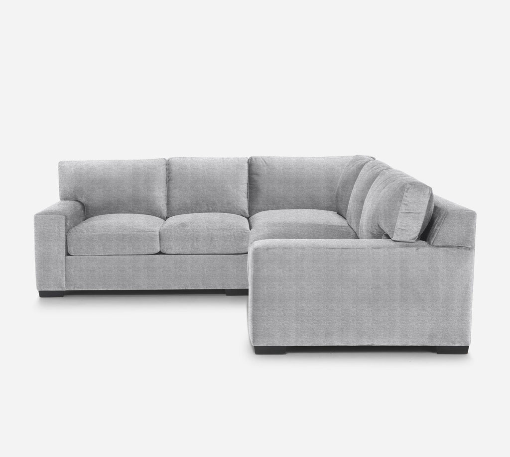 Kyle Corner Sectional - Stardust - Domino