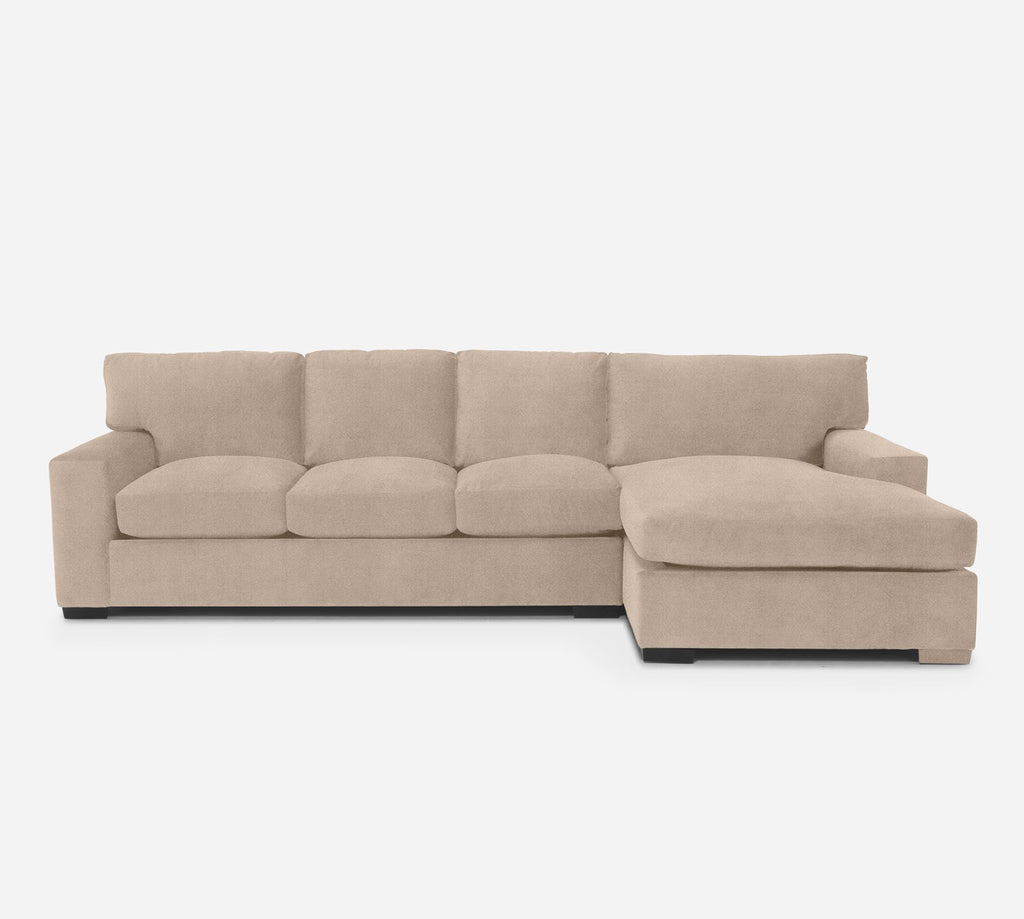 Kyle LAF Sectional Sofa w/ Chaise - Passion Suede - Camel