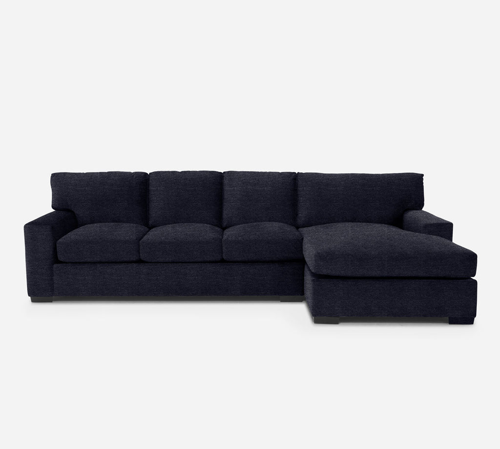Kyle LAF Sectional Sofa w/ Chaise - Stardust - Midnight