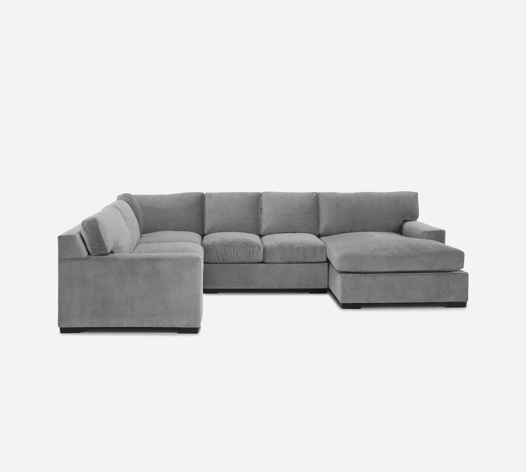 Kyle RAF Chaise Corner Sectional - Coastal - Ash