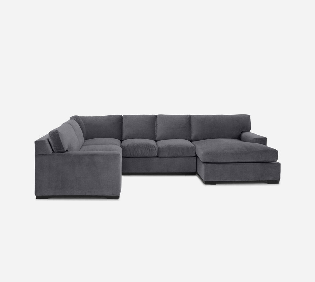 Kyle RAF Chaise Corner Sectional - Coastal - Steel