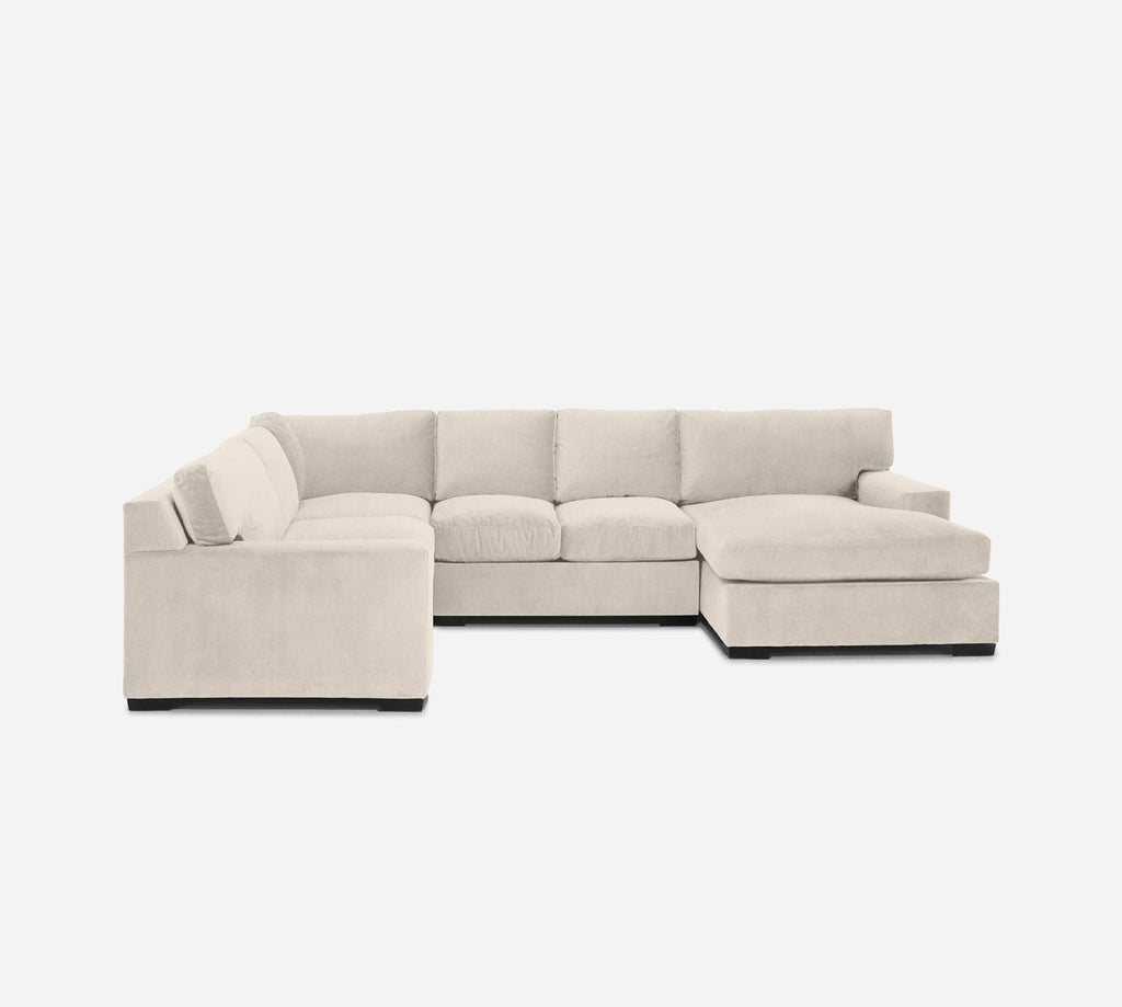 Kyle RAF Chaise Corner Sectional - Kenley - Canvas