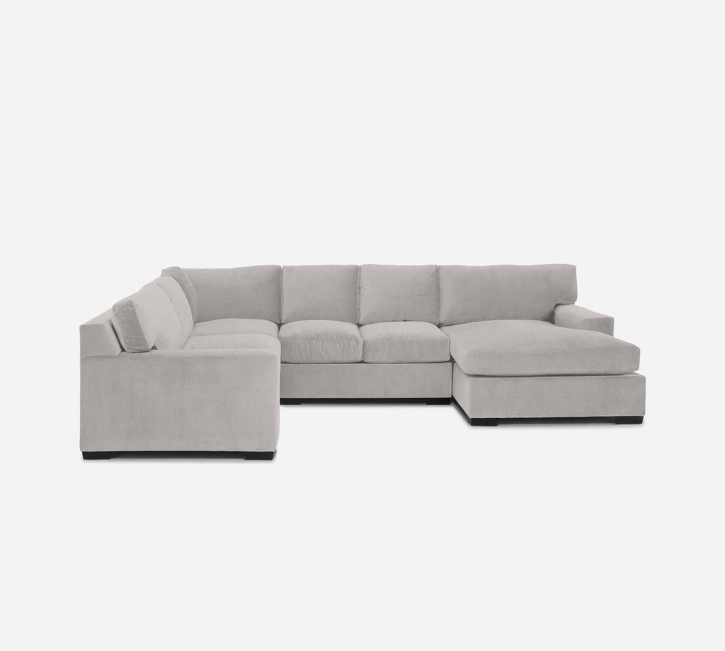 Kyle RAF Chaise Corner Sectional - Kenley - Moondust