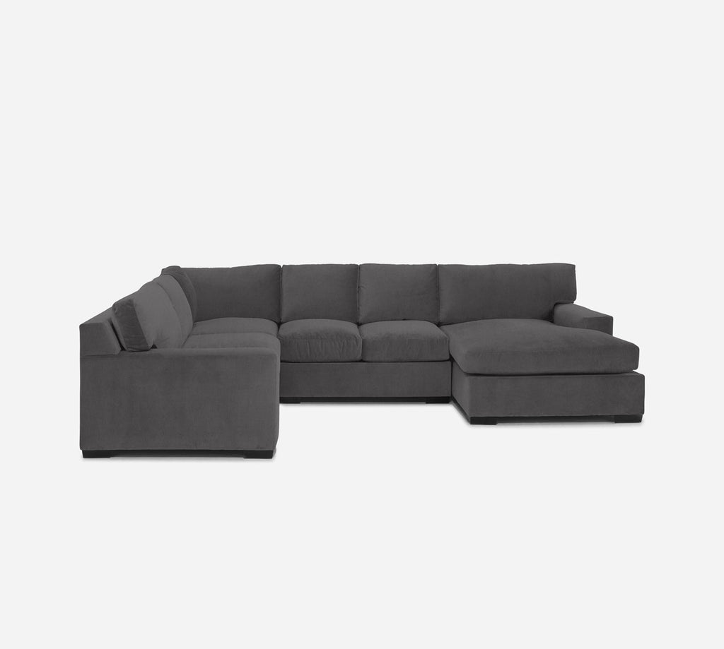 Kyle RAF Chaise Corner Sectional - Kenley - Silversage