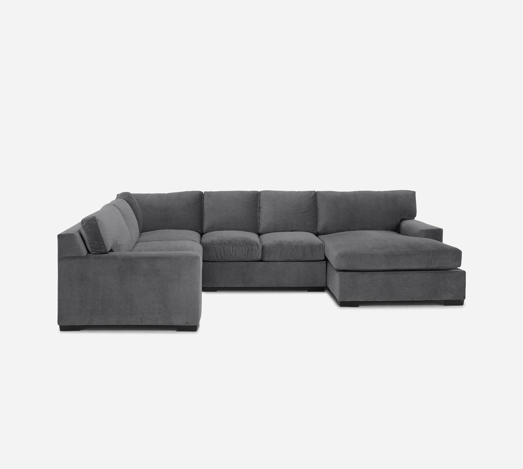 Kyle RAF Chaise Corner Sectional - Key Largo - Ash
