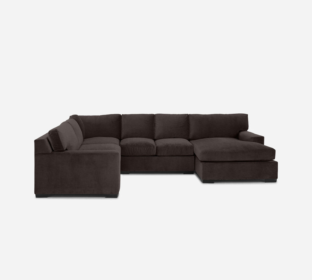 Kyle RAF Chaise Corner Sectional - Key Largo - Mocha