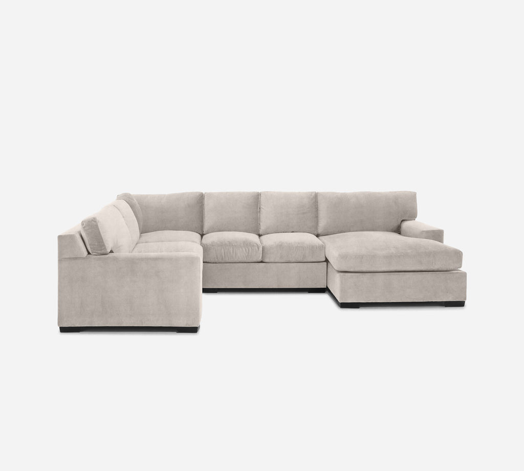 Kyle RAF Chaise Corner Sectional - Passion Suede - Oyster