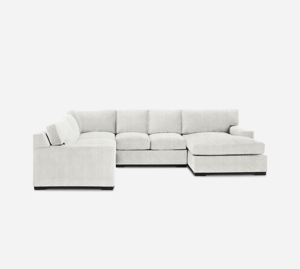 Kyle RAF Chaise Corner Sectional - Stardust - Ivory