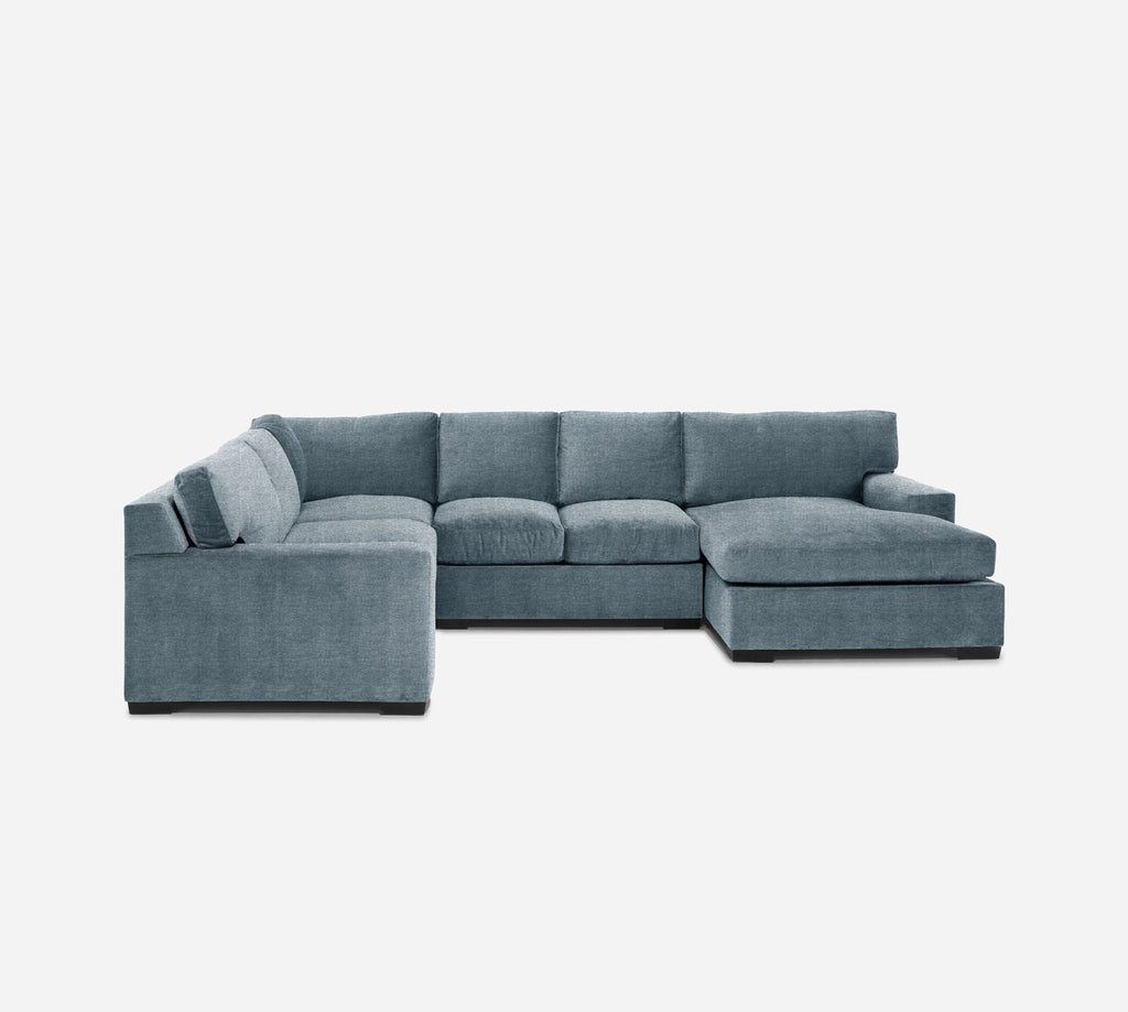 Kyle RAF Chaise Corner Sectional - Stardust - Lapis