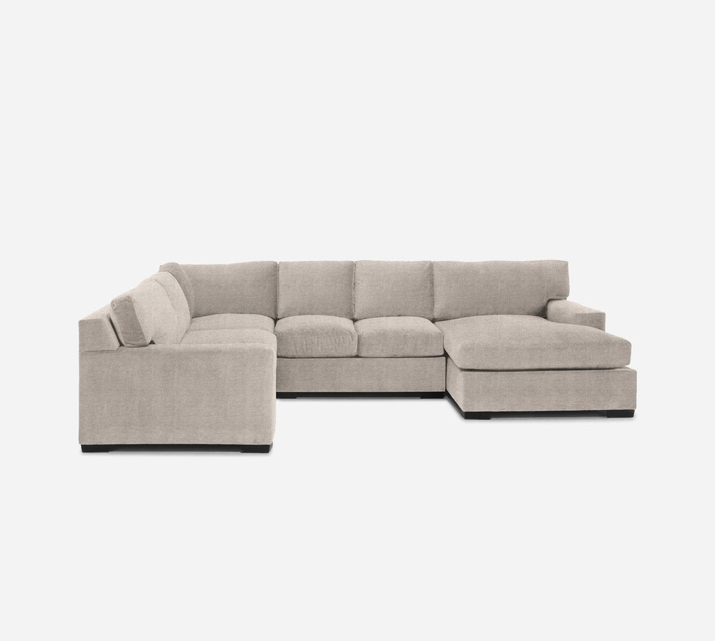 Kyle RAF Chaise Corner Sectional - Stardust - Oatmeal