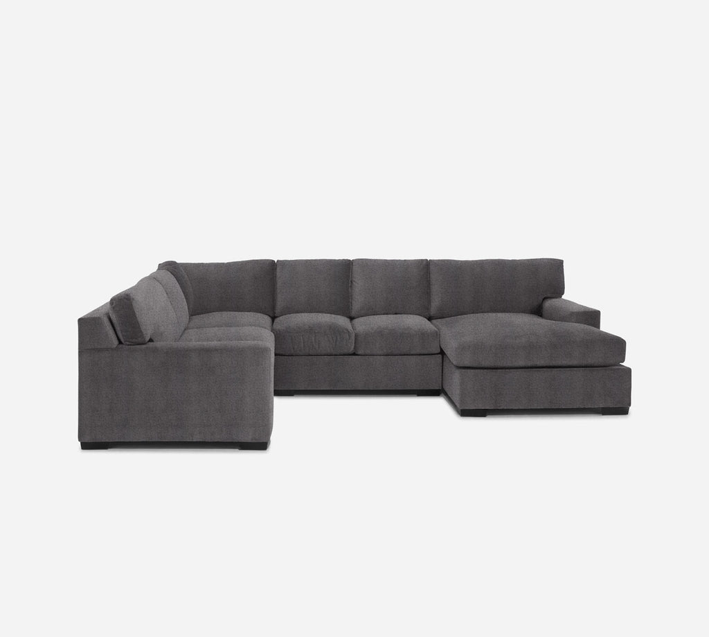 Kyle RAF Chaise Corner Sectional - Theron - Concrete