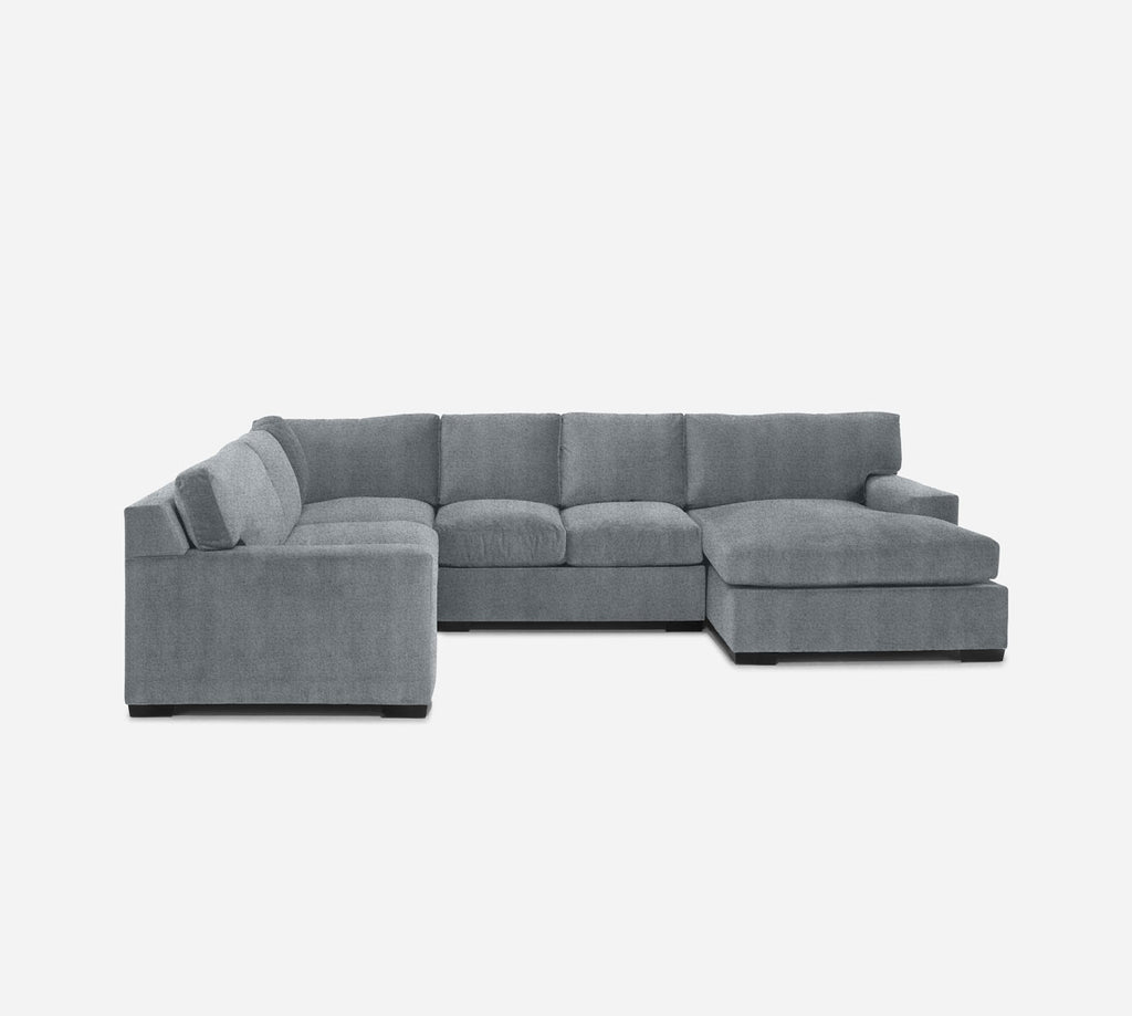 Kyle RAF Chaise Corner Sectional - Theron - Haze