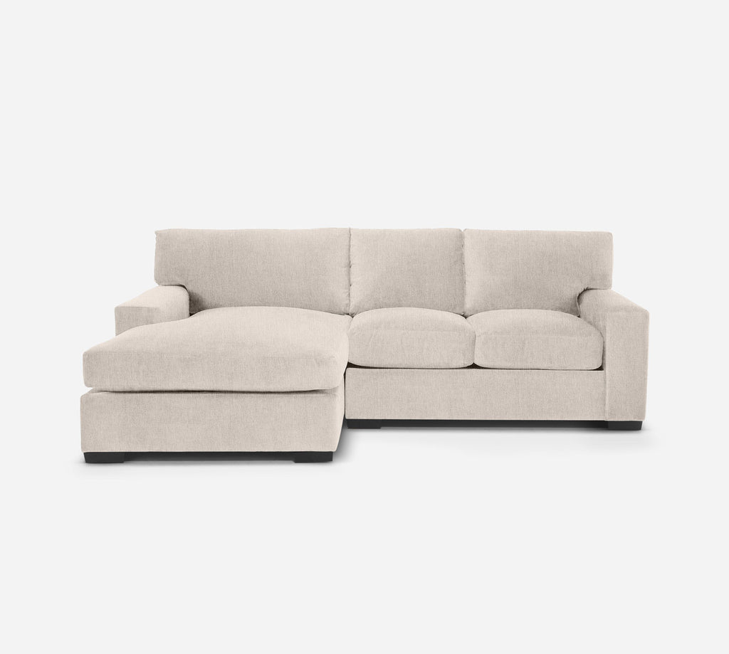 Kyle RAF Sectional Apt Sofa w/ Chaise - Kenley - Canvas