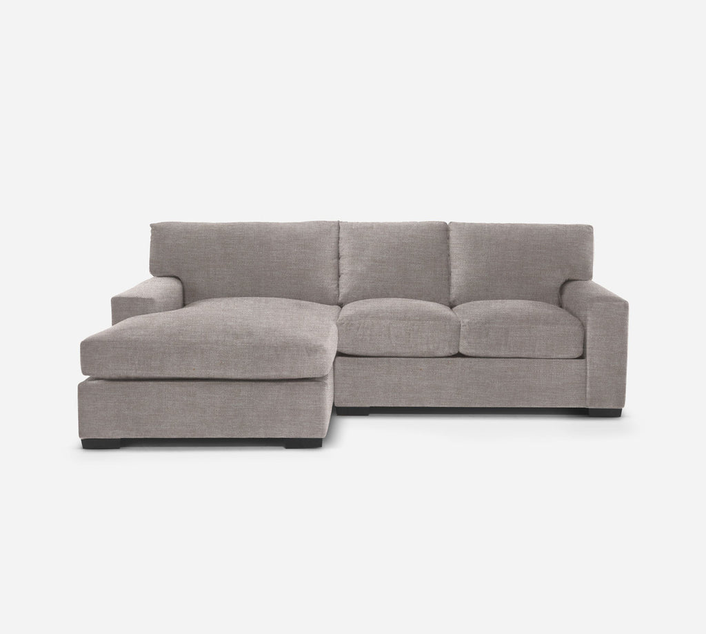 Kyle RAF Sectional Apt Sofa w/ Chaise - Key Largo - Almond