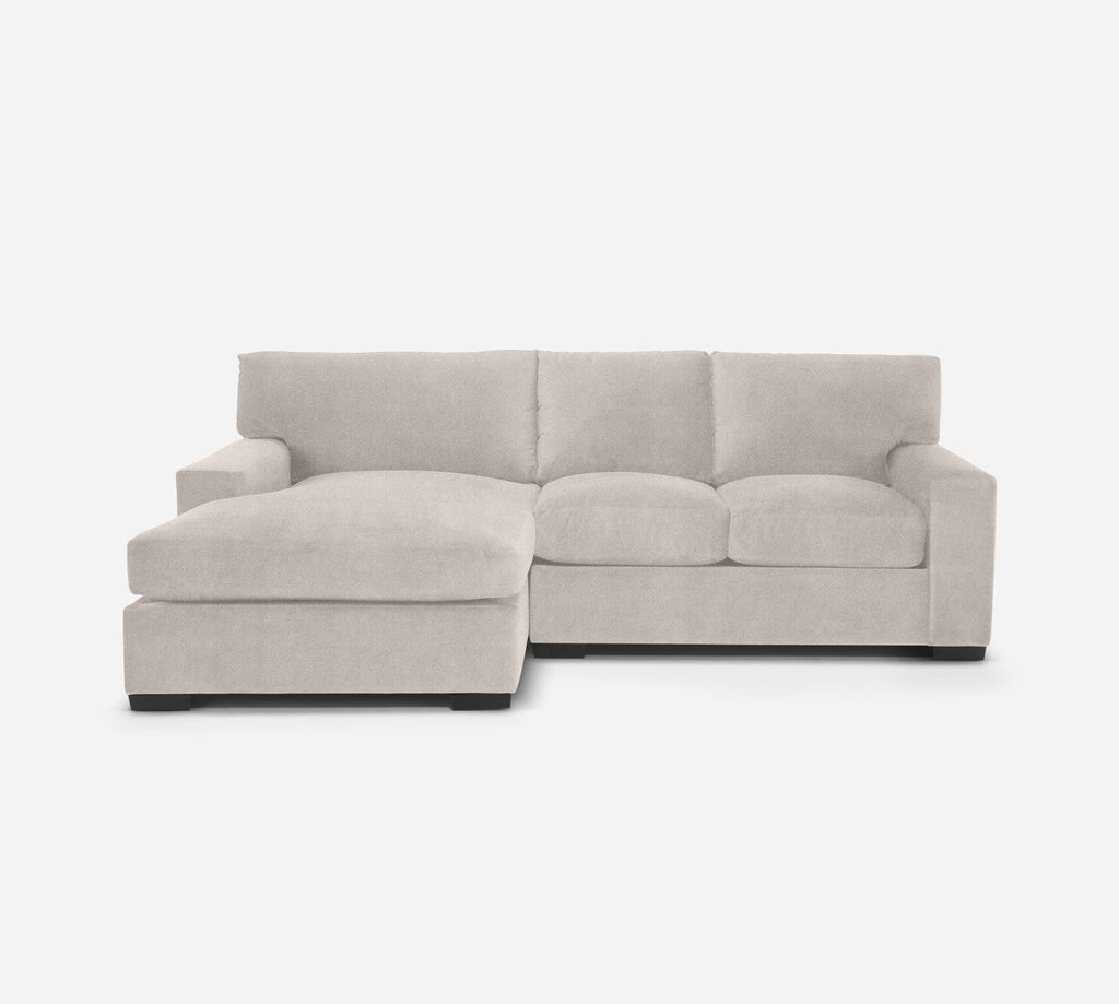 Kyle RAF Sectional Apt Sofa w/ Chaise - Passion Suede - Oyster