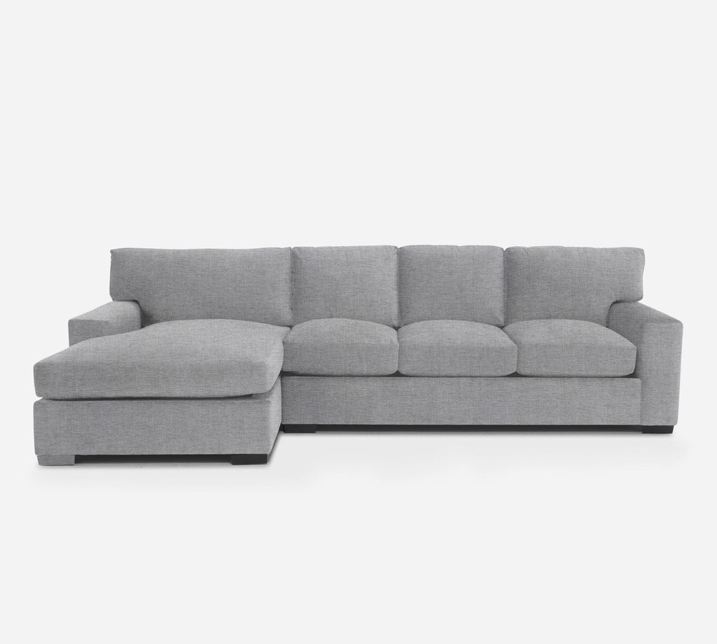 Kyle RAF Sectional Sofa w/ Chaise - Coastal - Ash