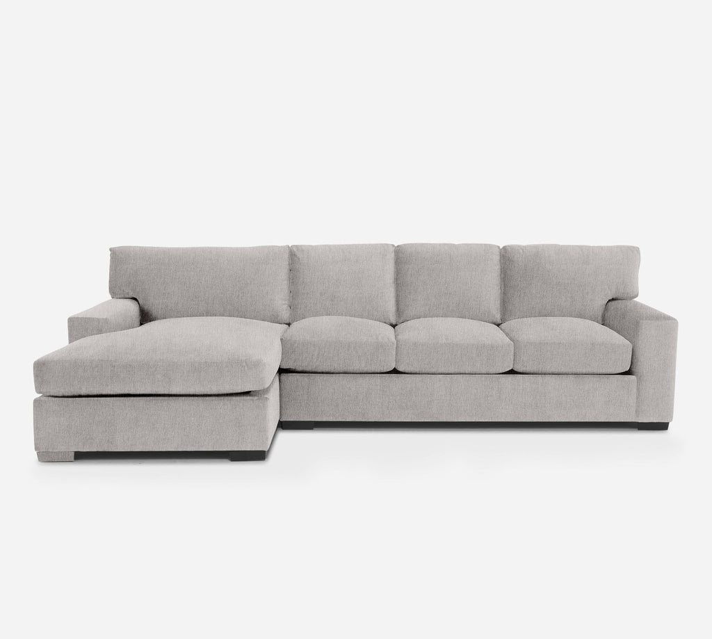 Kyle RAF Sectional Sofa w/ Chaise - Kenley - Moondust