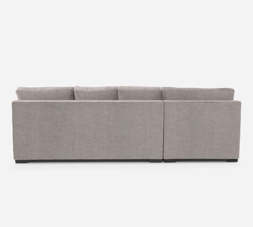 Kyle RAF Sectional Sofa w/ Chaise - Key Largo - Almond