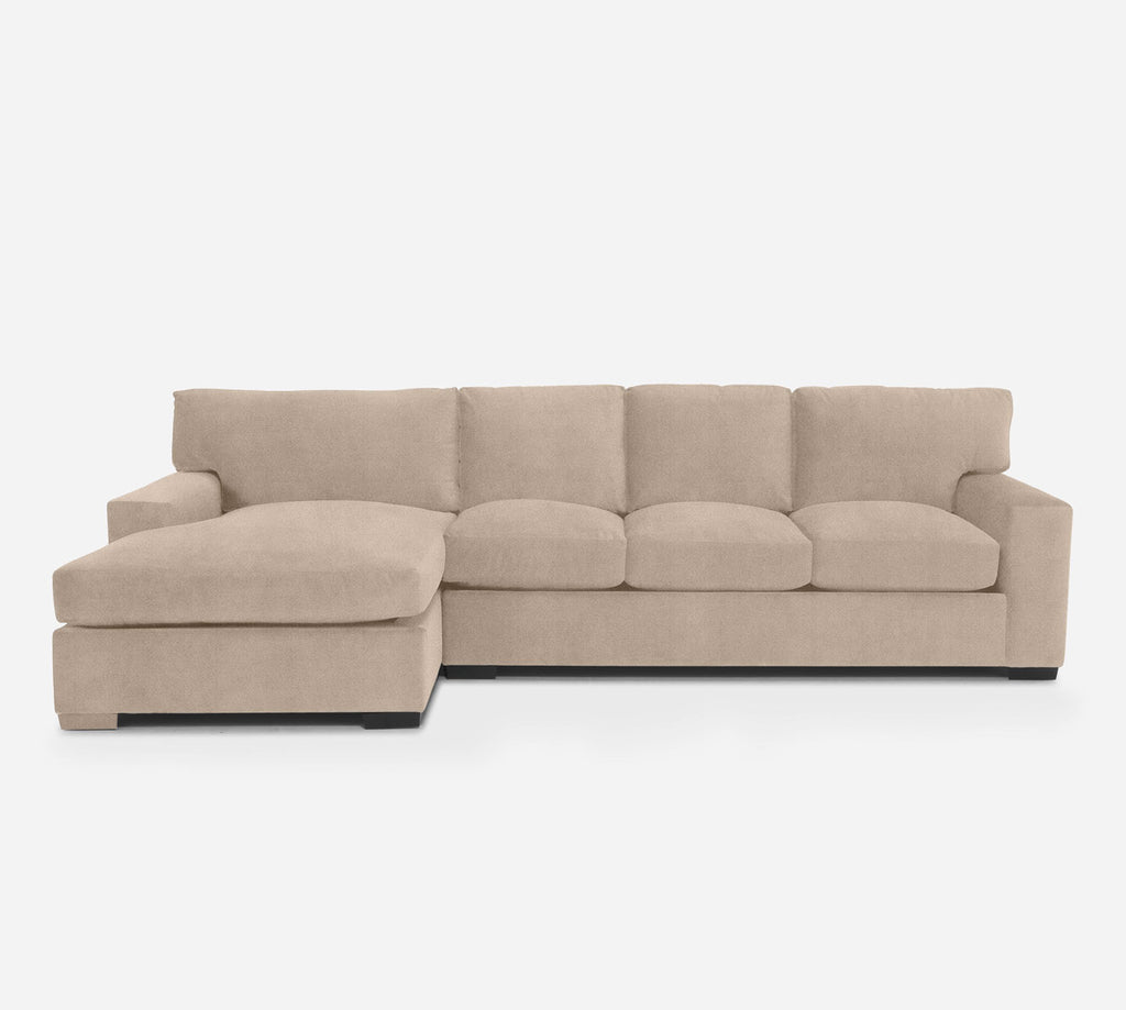 Kyle RAF Sectional Sofa w/ Chaise - Passion Suede - Camel