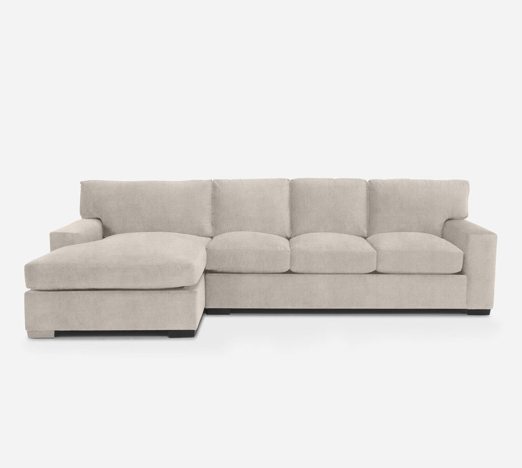 Kyle RAF Sectional Sofa w/ Chaise - Passion Suede - Oyster