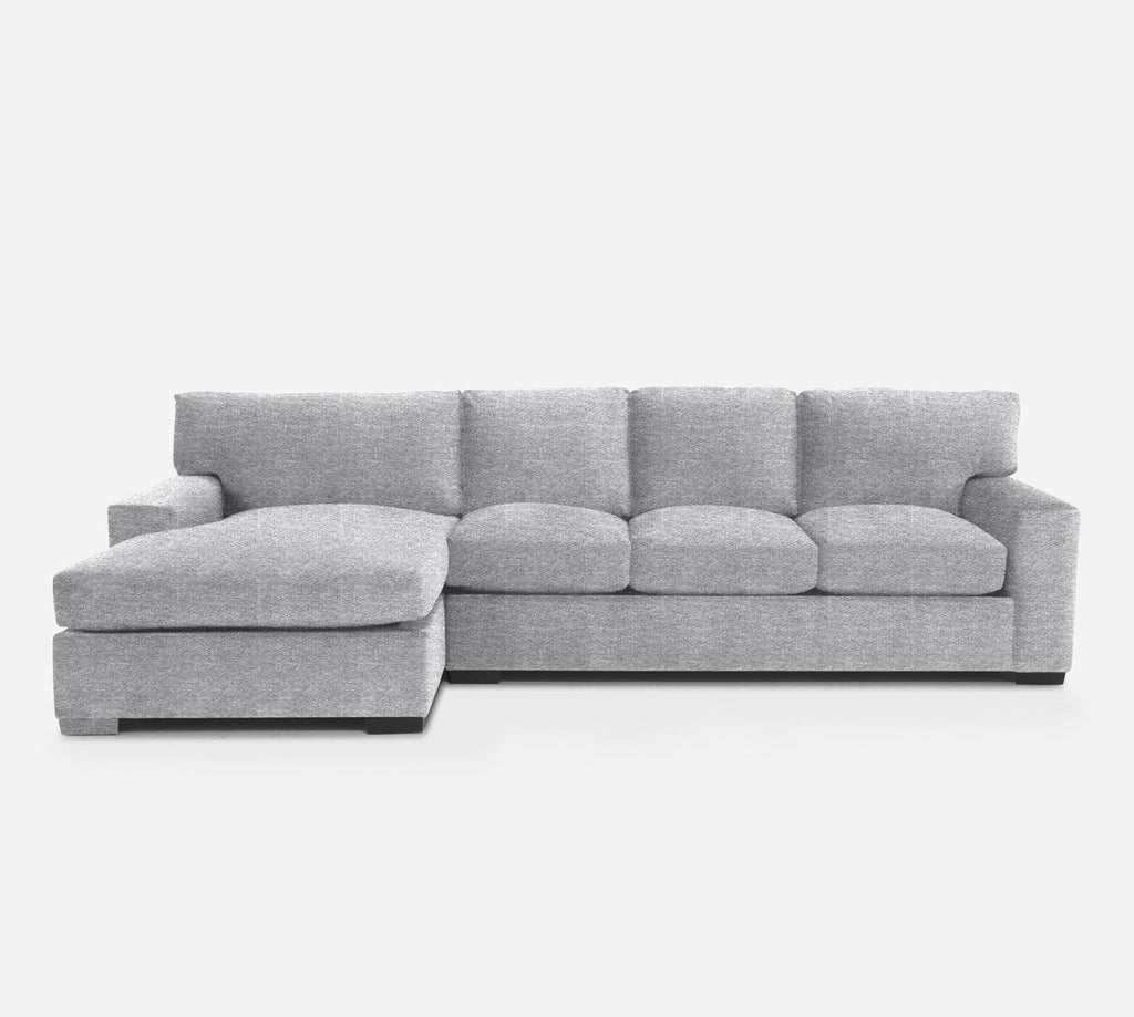 Kyle RAF Sectional Sofa w/ Chaise - Stardust - Domino