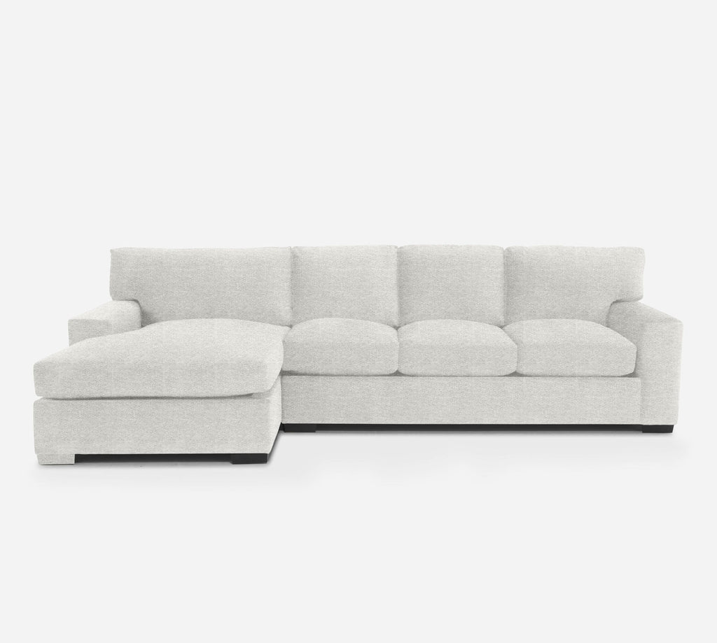 Kyle RAF Sectional Sofa w/ Chaise - Stardust - Ivory