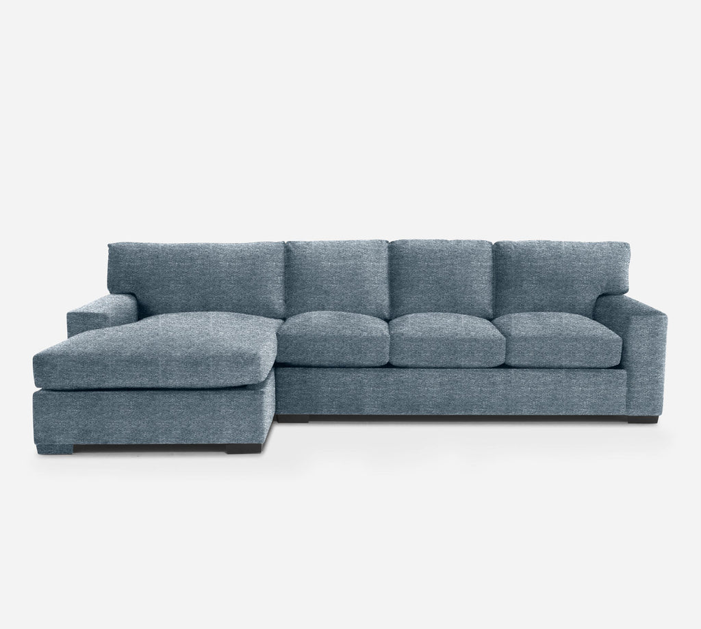 Kyle RAF Sectional Sofa w/ Chaise - Stardust - Lapis