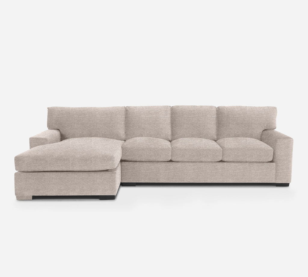 Kyle RAF Sectional Sofa w/ Chaise - Stardust - Oatmeal
