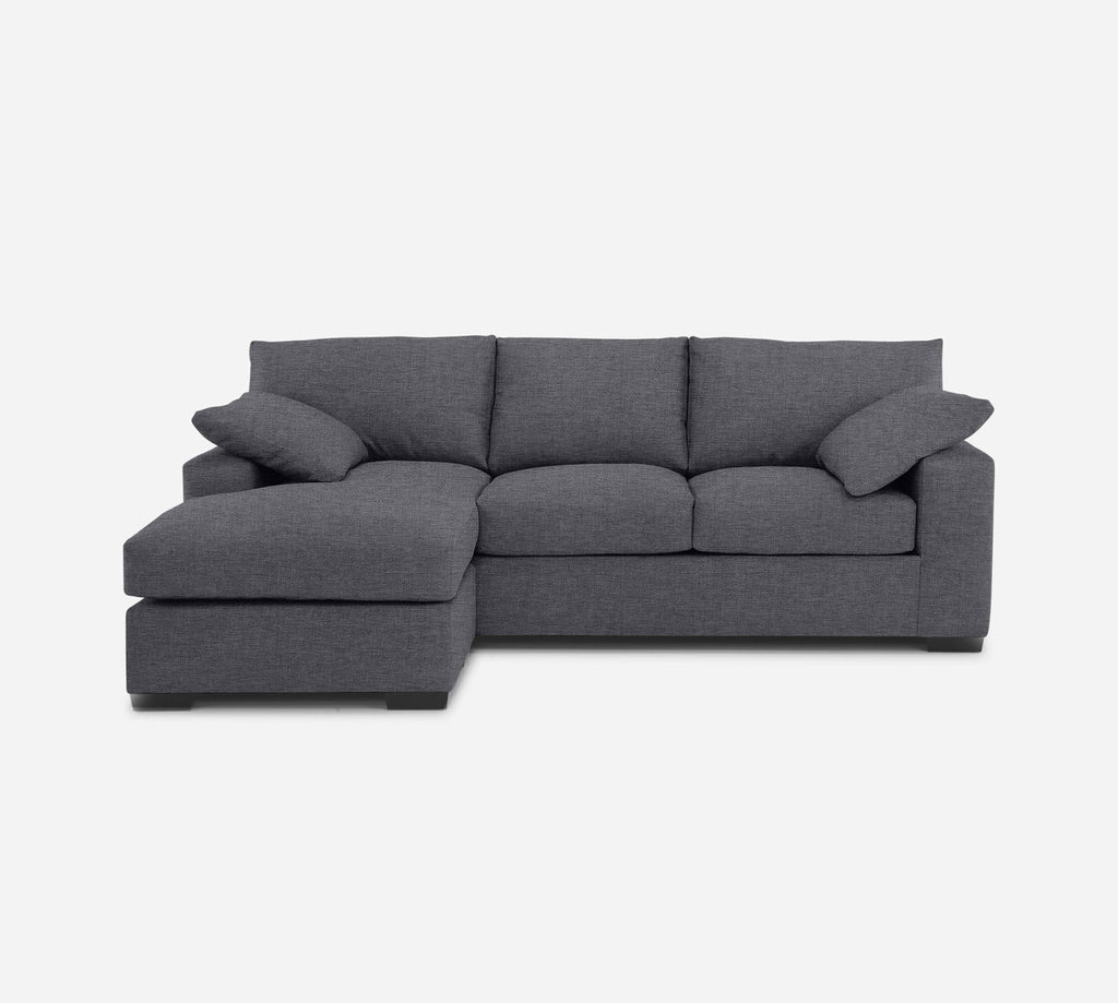 Kyle Sofa with Chaise- LHF - Coastal - Steel