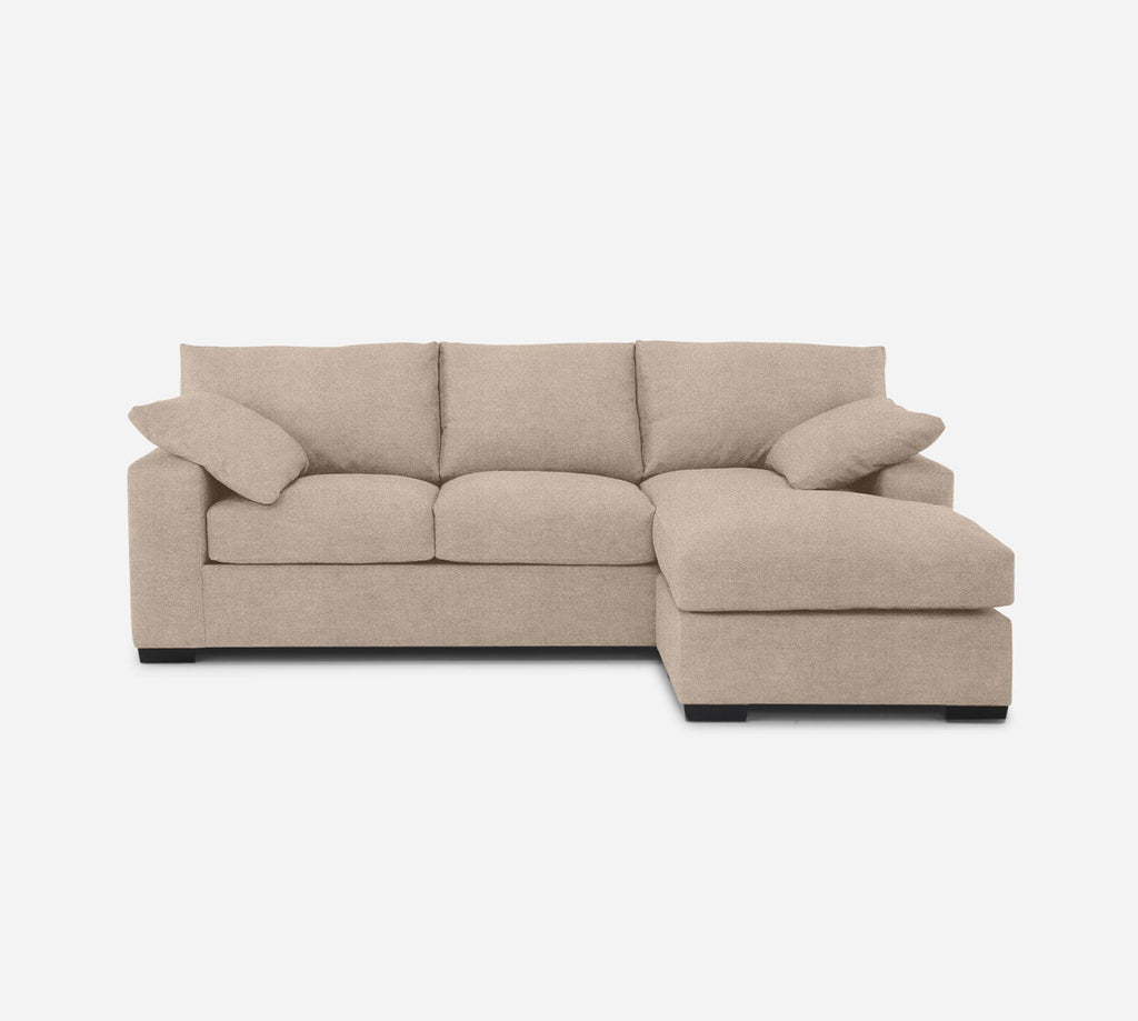 Kyle Sofa with Chaise- RHF - Passion Suede - Camel