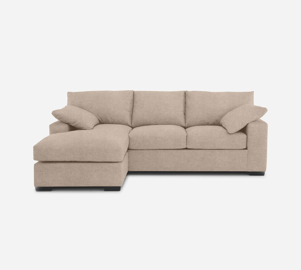 Kyle Sofa with Chaise- LHF - Passion Suede - Camel