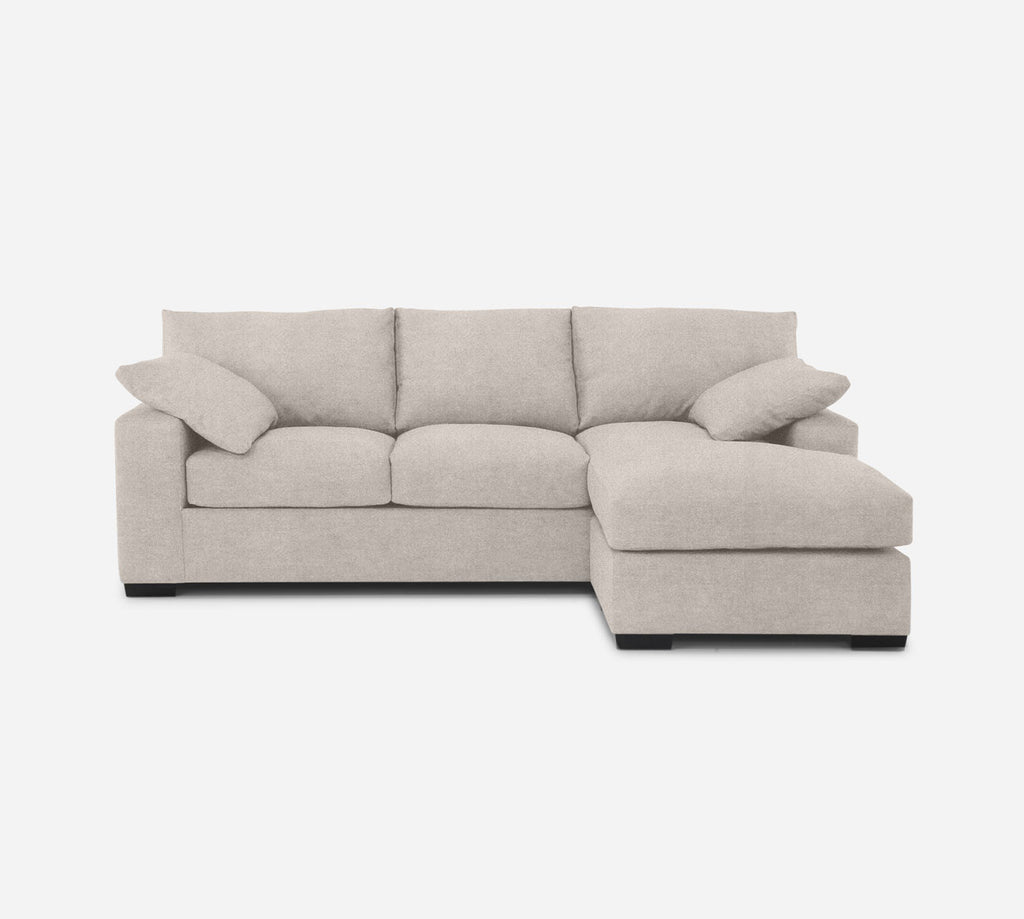 Kyle Sofa with Chaise- RHF - Passion Suede - Oyster