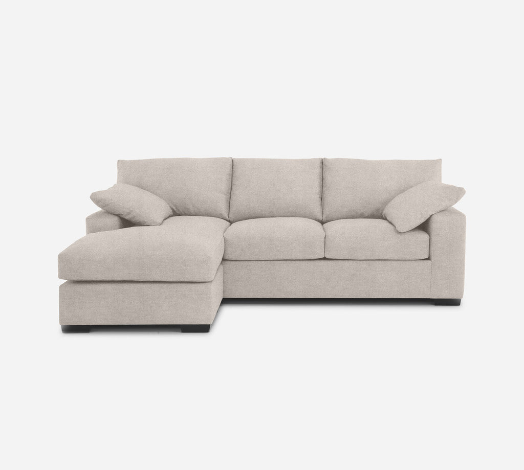Kyle Sofa with Chaise- LHF - Passion Suede - Oyster